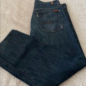 7 for all mankind men's size 36 jeans relaxed fit